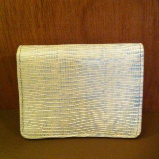BRAHMIN Mini Key Wallet Travel Card Purse Croc Leather Teal Melbourne