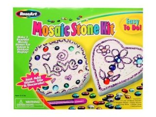 Mosaic Stone Kit by Mega Brands Rose Art Great Gift for Any Kid