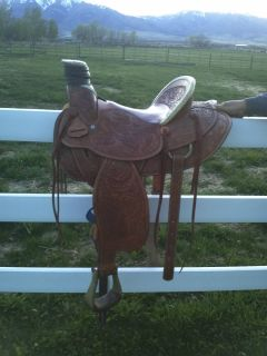 Handmade Tex Tan Hereford Ranch Roping Saddle