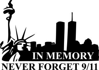 Memory Vinyl Wall Decal stiker Quote Car Twin Towers Memorial