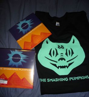 PUMPKINS Celestials 7 T Shirt Pack Target Vinyl Mellon Collie LP L/XL