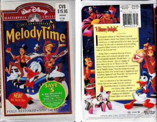 Walt Disney 50th Anniversary MELODY TIME VHS (1998) *NEVER OPENED