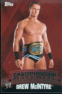 2010 Topps WWE Drew McIntyre Championship Belt Puzzle