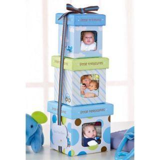 Baby Boy Trinket Keepsake Memories Photo Box Gift Set