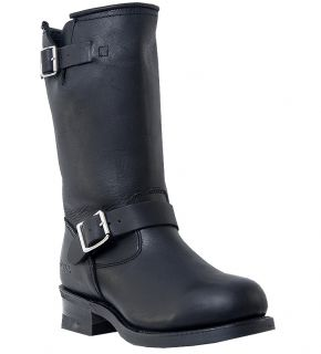 Mens Dingo Rob Motorcycle Boots Buckle Black Medium D M Engineer Toe