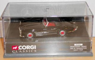 Corgi 03501 Mercedes Benz 300 SL Roadster Soft Top Black MIB