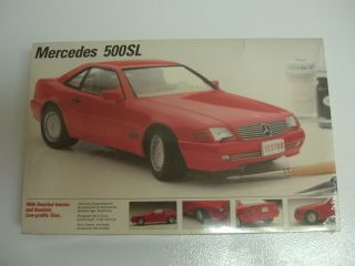 Testors Fujimi Mercedes Benz 500 SL Kit 1 24 Scale MISB 1990 Issue