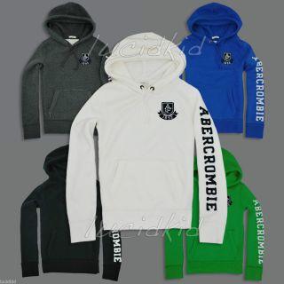 Abercrombie Hoodie Sweater Meacham Lake Mens Navy Blue White Gray