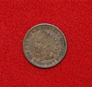 Civil War Store Card Token Indian Head G C Porter Meadville PA