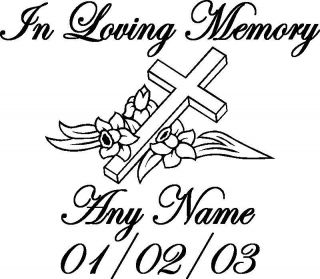 In Memory of A Lost One Memorial Sticker Decal Graphic