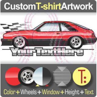 Custom T Shirt Inspired on 79 86 Mercury Capri Black Magic RS Turbo