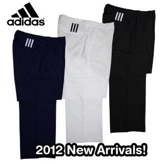 Stripe Golf Pants Trousers Mens 2012 Adidas Navy Blue Granite White