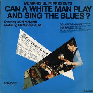 Memphis Slim Can A White Man Play French LP Milan
