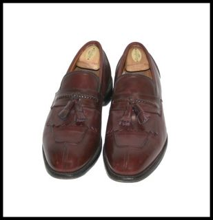 EDMONDS MENS DRESS SHOES CANNONDALE MERLOT SIZE 11 5 E LOAFERS TASSELS
