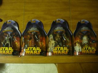 Star Wars ROTS Sneak Preview Figures Set of 4 Tion Medon R4G9