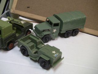 TIM MEE? CARGO TRUCK WEAPONS CARRIER? +2 JEEPS   HASBRO IDEAL TIM MEE