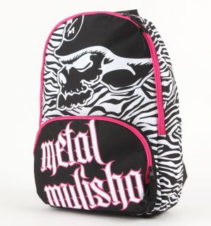 METAL MULISHA Black White Pink MAIDEN BACKPACK Book Bag WOMENS NEW NWT