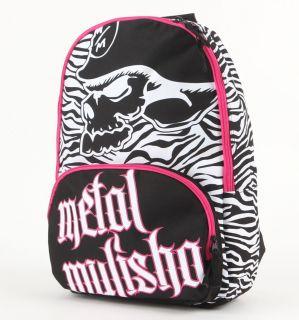 METAL MULISHA Black White Pink MAIDEN BACKPACK Book Bag WOMENS NEW NWT