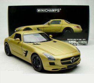 18 Minichamps Mercedes Benz SLS AMG 6 3 2010 Matt Gold 100039024