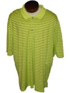 New IZOD Golf Polo Shirt Mens 3X 3XL XXXL Lime Green Black Stripes NWT