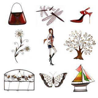 Juliana Metal Wall Art Flower Tree Hand Bag Shoe Guitar Yacht Union