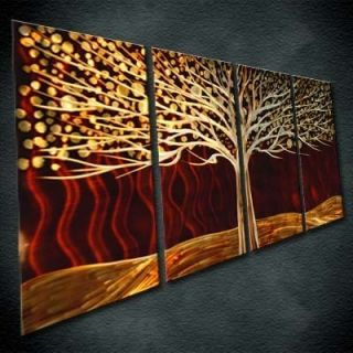 Home Decorating on Metal Wall Art Painting Sculpture Indoor Outdoor Decor Brown Treeby
