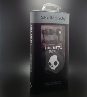 NEW Skullcandy FULL METAL JACKET Bass Rich Noise Isolation Earbuds In