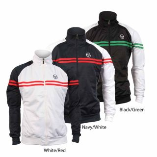 Sergio Tacchini New Mens Retro Full Zip Tracksuit Top Jacket Coat