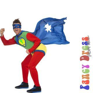 Phantom Farter Super Hero Mens Funny Fancy Dress Costume Large Chest
