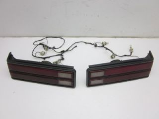 Mercury Marquis Ford LX Tail Light Assemblies Pair w Wire Harness 1985