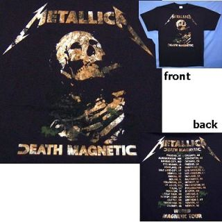 METALLICA DEATH MAGNETIC TOUR BURIED IMAGE BLK T SHIRT 2XL XXL NEW
