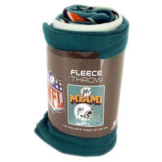 Miami Dolphins Fleece Blanket New