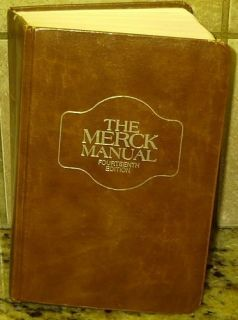 The Merck Manual 14th Fourteenth Edition 1982 Book Free U s Shipping