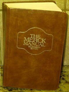 The Merck Manual 14th Fourteenth Edition 1982 Book Free U s Shipping