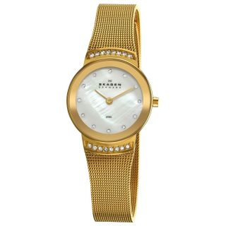 Skagen Womens 812SGG Steel Luxurious Gold Mesh Watch
