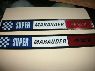 1963 Mercury Super Marauder 427 Valve Cover Decals Marquis Monterey
