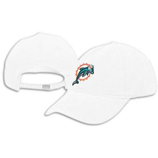Miami Dolphins Womens NFL Reebok Slouch Hat Cap New White
