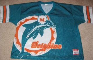 Miami Dolphins Logo Vintage Wilson Football Jersey L