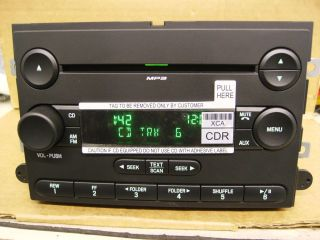 FORD FUSION MERCURY MILAN CD PLAYER RADIO MP3 STEREO 2006 2007 7E5T