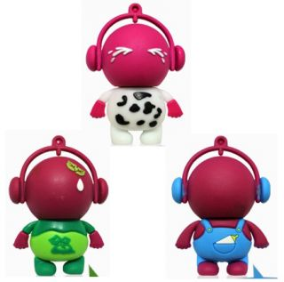 Cute Rubber Charactor USB Memory Stick Water Proof Compatible Windows