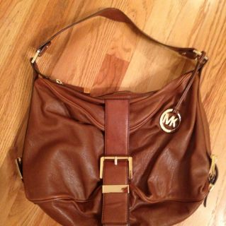 Michael Kors Brown Leather Shoulder Hobo Bag Handbag