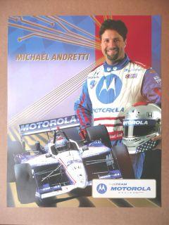 Michael Andretti Team Motorola 2002 Photo Card 8 x 10 Indy