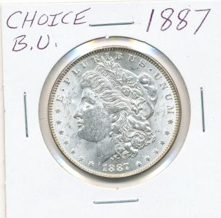 1887 Morgan Silver Dollar Choice B U