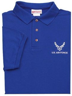 Air Force Royal Blue Polo Shirts Embroidered