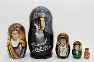 Michael Jackson Russian Nesting Dolls 5pc Matryoshka Doll Nesting