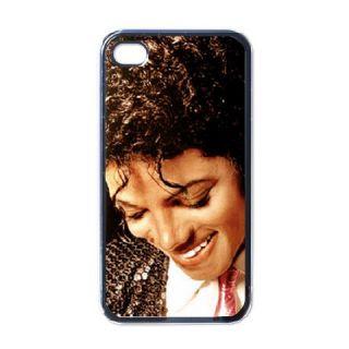 Smiling Michael Jackson Collectible iPhone 4 Case Black