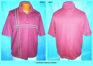 Mens Dockers Golf Polo Style Short Sleeve Shirt Maroon Burgundy Medium