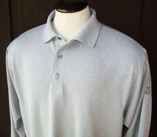 FootJoy Long Sleeve Moisture Wicking Polo Golf Shirt Mens XL