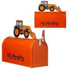 Kubota Tractor Orange Metal Mailbox 114026