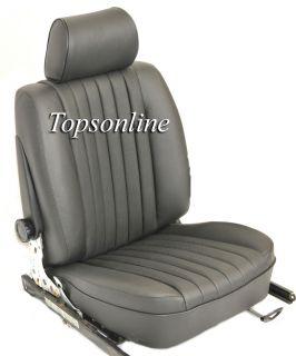 Mercedes Benz 280 350 380 450 SLC Vinyl Front Seat Covers, Original MB